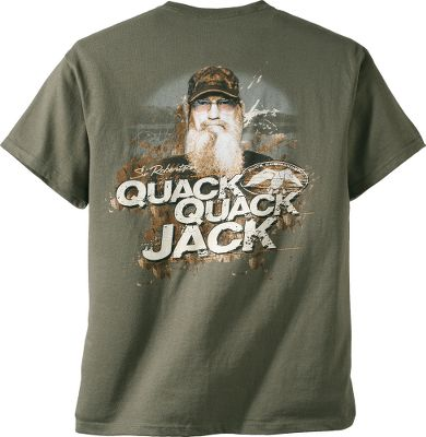 Hunting Fans of the hit reality series Duck Dynasty are sure to love the Duck Commander Mens Quack Jack Short-Sleeve Tee Shirt featuring the lovable Si Robertson. 100% cotton. Imported. Sizes:S-3XL. Color: Moss. Size: 3 X-Large. Color: Moss. Gender: Male. Age Group: Adult. Material: Cotton. Type: Short-Sleeve Tee Shirts. - $11.88