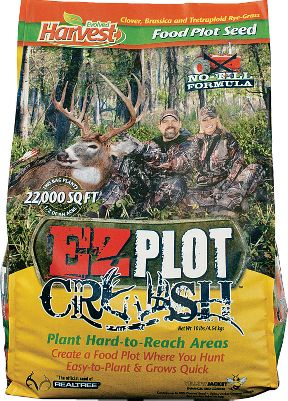 When discing isnt an option, turn to Evolved Harvest EZ Plot Crush for a no-till formula that doesnt need heavy equipment to plant. Plant it in rugged, remote, hard-to-reach areas and just leave it. Requires no maintenance. This sweet-tasting, fast-growing annual mix contains clover, rape and tetraploid rye. 10 lbs. plants 1/2 acre. Type: Deer Attractants. - $24.99