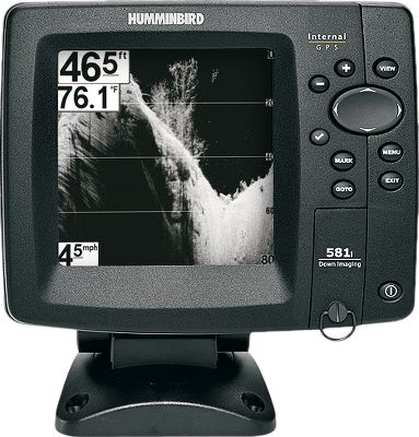 Motorsports Down Imaging Easy-to-view, 5 monochrome LCD monitor 640x320-pixel 16-level grayscale display DualBeam sonar with 2,000 watts peak-to-peak output Internal 50-channel GPS chartplotting with built-in UniMap 83kHz/60 200kHz/20 250-watt RMS Navionics compatible 3,000-waypoint memory Inside hull or transom mounting GPS speed and temperature included SwitchFire offers two-mode viewing for return displays Advanced features included Split Screens, Freeze Frame and TruArch technology Dimensions: 7H x 7W x 4D Made in USA - $299.88