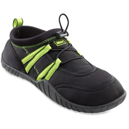 Surf The boys' REI water shoes are ready for romps in wet conditions, thanks to quick-drying materials and grippy soles. - $4.83