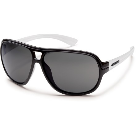 Camp and Hike The SunCloud Wingman polarized sunglasses provide 100% UV protection in a classic aviator style. - $24.73