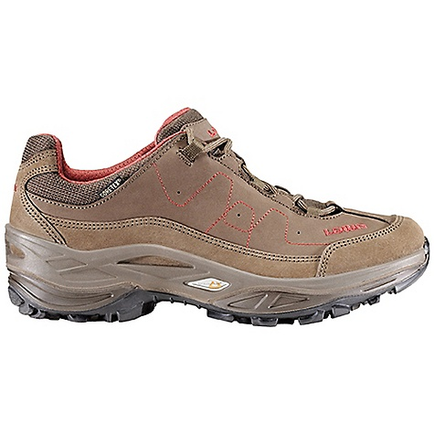 Camp and Hike Free Shipping. Lowa Women's Toro GTX Lo Boot DECENT FEATURES of the Lowa Women's Toro GTX Lo Boot A new design offers on-trail stability, support with added rocker for easy walking comfort Hidden cord lace system reduces weight and bulk Gore-Tex for all-weather comfort and protection Made on a women's-specific last The SPECS Weight: 730 gram Upper: Nubuck/Split Leather Lining: Gore-Tex Footbed: Climate Control Midsole: PU Monowrap Frame with STG PU Outsole: Lowa Enduro Stabilizer: 3/4 length, Medium - $199.95