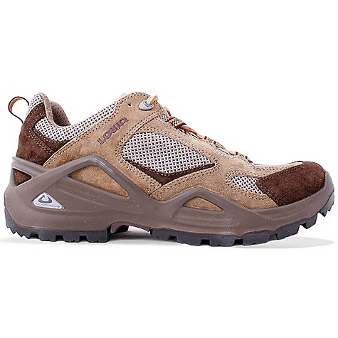 Camp and Hike Free Shipping. Lowa Men's Vento Lo Shoe DECENT FEATURES of the Lowa Men's Vento Lo Shoe For hiking in the heat of summer where you need the stability and underfoot control that comes with PU Monow rap frame, and the breathability of open mesh panels The SPECS Weight: 800 gram Upper: Split Leather/Open Breathable Mesh Lining: Synthetic Mesh Footbed: Climate Control Midsole: PU Monow rap Frame Outsole: Lowa Cross Stabilizer: 3/4 length, Stiff - $149.95