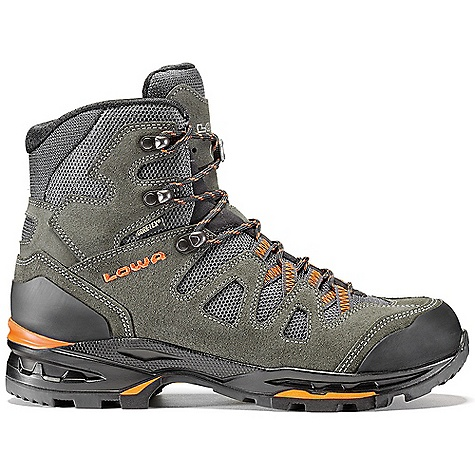 Camp and Hike Free Shipping. Lowa Men's Khumbu II GTX Boot DECENT FEATURES of the Lowa Men's Khumbu II GTX Boot A perennial Lowa favorite for lightweight trekking The split leather and Cordura upper is reinforced with a TPU netting for durability Elements such as web lace loops keep weight down and improve ease of lacing Gore-Tex for added waterproofing and breathability The SPECS Weight: 1800 gram Upper: Split Leather and Fabric Covered with TPU Mesh for Durability Lining: Gore-Tex Footbed: Balance Comfort Midsole: PU with SPS Cushion and Fluke Technology Outsole: Vibram Apptrail Stabilizer: 5mm Nylon Heel/3mm Forefoot Climate Control: Yes Tongue Stud/X-Lacing: Yes C4 Tongue: Yes - $249.95