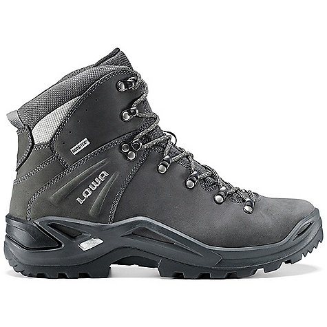 Camp and Hike Free Shipping. Lowa Men's Ronan GTX Mid Boot DECENT FEATURES of the Lowa Men's Ronan GTX Mid Boot A multifunction boot with a one-piece upper design for those who are rough on the toes of their boots Built on a Monowrap sole unit with a full-length firm stabilizer for extra support, cushioning and comfort Gore-Tex lined for waterproofing and breathability comfort The SPECS Weight: 1120 gram Upper: Embossed Nubuck/Cordura Climate Control: Yes Lining: Gore-Tex Footbed: Climate Control Midsole: PU Monow rap Frame Outsole: Vibram Evo Stabilizer: Full-length, Stiff - $239.95
