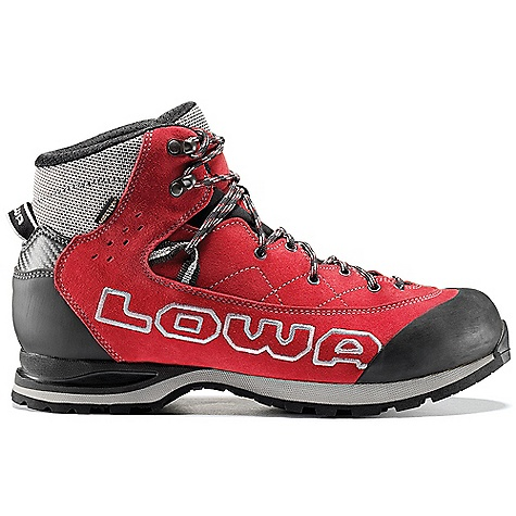 Camp and Hike Free Shipping. Lowa Men's Triolet GTX Mid Boot DECENT FEATURES of the Lowa Men's Triolet GTX Mid Boot A technical approach and big wall boot Mid-cut upper is split leather and lined with Gore-Tex for water protection Rubber toe cap for durability The SPECS Weight: 1160 gram Upper: Mountaineering Split Leather/ Cordura Lining: Gore-Tex C4 Tongue: Yes Flexfit: Yes Footbed: Balance Comfort Midsole: Lowa Scale Outsole: Vibram Approacher Stabilizer: 3mm Nylon - $234.95