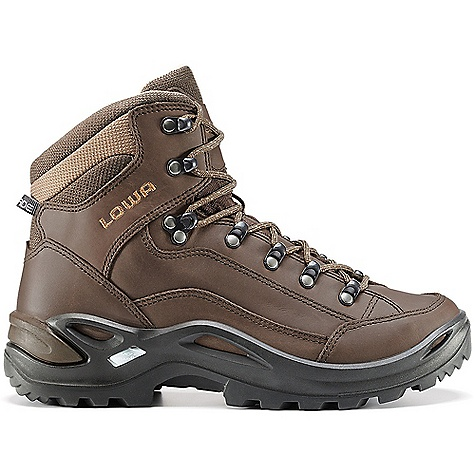 Camp and Hike Free Shipping. Lowa Women's Renegade LL Mid Boot DECENT FEATURES of the Lowa Women's Renegade LL Mid Boot Lowa's best-selling boot has been updated with a glove leather lining for a luxurious close-to-the-foot fit and superb moisture wicking Ideal for warm climate hiking Made on a women's-specific last The SPECS Weight: 980 gram Upper: Waxed Nubuck Lining: Glove Leather Footbed: Balance Comfort Midsole: PU Monow rap Frame Outsole: Vibram Evo Stabilizer: Full-length, Medium - $219.95