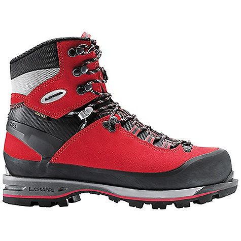 Ski Free Shipping. Lowa Men's Mountain Expert GTX Boot DECENT FEATURES of the Lowa Men's Mountain Expert GTX Boot An extremely versatile boot; provides automatic crampon compatibility and easy walking due to a generous sole rocker shape Ideal for heavy backpack trips above tree line where crossing snowfields and some mixed climbing will be part of the route The SPECS Weight: 1880 gram Upper: Mountaineering Split Leather Lining: Gore-Tex with Duratherm insulation Climate Control: Yes Tongue Stud/X-Lacing: Yes C4 Tongue: Yes Flexfit: Synchro: Yes Footbed: Insulate Pro Alu-coated with Fleece Midsole: PU Expert Outsole: Vibram Teton Stabilizer: 6mm Nylon - $374.95