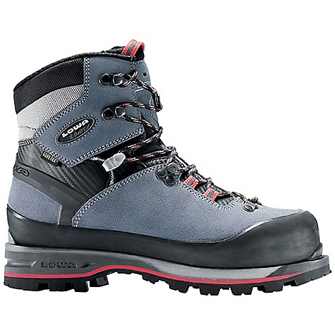 Ski Free Shipping. Lowa Women's Mountain Expert GTX Boot DECENT FEATURES of the Lowa Women's Mountain Expert GTX Boot Mountain Expert's generous sole rocker shape gives it incredible versatility, allowing automatic crampon compatibility and easy walking Ideal for heavy backpack trips, above tree line hiking, crossing snowfields and mixed climbing Made on a women's-specific last The SPECS Weight: 1600 gram Upper: Mountaineering Split Leather Lining: Gore-Tex with Duratherm Insulation Climate Control: Yes Tongue Stud/X-Lacing: Yes C4 Tongue: Yes Flexfit: Synchro: Yes Footbed: Insulate Pro Alu-coated with Fleece Midsole: PU Expert Outsole: Vibram Teton Stabilizer: 6mm Nylon TPU - $374.95