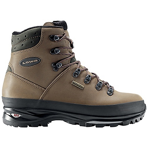 Camp and Hike Free Shipping. Lowa Men's Ranger GTX Boot DECENT FEATURES of the Lowa Men's Ranger GTX Boot Classic one-piece trekking boot for carrying moderate loads over on-trail terrain Waterproof/breathable with Climate Control, Tongue stud with X-Lacing The SPECS Weight: 1940 gram Upper: Nubuck Lining: Gore-Tex Climate Control: Yes C4 Tongue: Yes Footbed: Balance Midsole: PU with SPS Cushion Outsole: Vibram Tactis DST Stabilizer: 5mm Nylon Heel/3mm Forefoot - $294.95