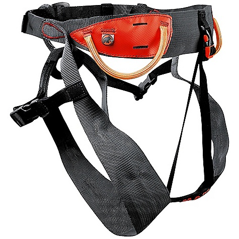 Climbing On Sale. Free Shipping. Mammut Men's Alpine Light Harness DECENT FEATURES of the Mammut Men's Alpine Light Harness Ultra-light alpine harness Easy on/off through plastic click buckles Possibility to get in without taking off crampons or skis Hypalon skeleton for increased support Possibility to attach an ice-screw racking carabineer Click-buckle for ideal handling of the hip belt Costly wide-narrow weaving technique with varying width from 30 mm to 62 mm Functional Drop Seat clip buckle and haul loop The SPECS Weight: 280 g ALL CLIMBING SALES ARE FINAL. - $37.99