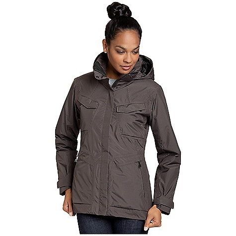 Free Shipping. Nau Women's Insular Jacket DECENT FEATURES of Nau Women's Insular Jacket 100% recycled and recyclable polyester shell made with Teijin ECOCIRCLE(R) technology Recycled poly/COCONA blend provides superior warmth Two-way stretch offers comfort on the snow Fully taped seams for complete weather protection DWR-treated front zipper with wind flap keeps the weather out Zip-off hood with 2-way drawcord cinches around the face for protection without sacrificing visibility Two front pockets, two chest zip pockets with ticket loop. One internal mesh pocket and one internal zip pocket has cord routing system for cell phone or music player Hidden, adjustable storm skirt hem seals out the elements Tailored fit for a more feminine silhouette on the slope The SPECS Teijin ECOCIRCLE(R) Technology 100% recycled polyester in a two-layer waterproof/breathable laminate with 22-Denier rip-stop construction and two-way stretch for comfort Recycled polyester and COCONA blend provides quick-drying warmth and superior insulation Lining is crafted from 100% recycled polyester Fit: Regular Weight: 1 lb. 8 oz. - $298.95
