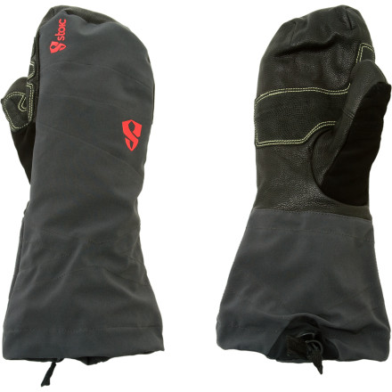 The wool-insulated, waterproof breathable Stoic Welder Gauntlet Mitt signs on for long days in the deepest cold. The Welder Trigger Mitts low-profile, fully welded softshell construction and Double Helix gauntlet closure work together to stay out of your way, eliminating hang ups on your ice tools on your way up or passing foliage on your way down. Stoics Talon finger system (grip like eagle!!) offers incomparable dexterity for a mitt, while goat skin reinforcements in the Gauntlet Mitts palm ensure seasons worth of use. The Gauntlet Mitts waterproof Sympatex bladder shuns external moisture, while the removable wool liner offers versatility for changing conditions. - $38.15