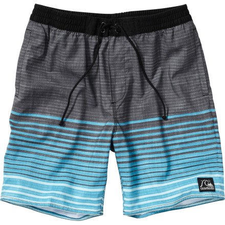 Surf It may not do much about blood-sucking denizens of the night, but the Quiksilver Men's Garlic Pouch Board Short can ward off chafing and discomfort. Water-repellent supersuede dries with supernatural speed while Lycra at the inside rise makes for smooth, all-day comfort. - $55.00
