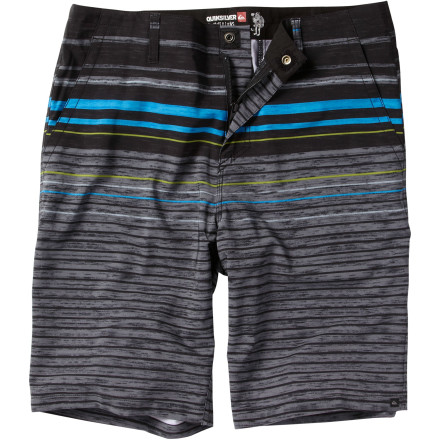 Surf Scope the scene at the beach while you're wearing the Quiksilver Men's Check Out Short. This amphibious short is ready for action, no matter what looks good, thanks to the versatile chino style and water-ready fabric. Is the surf looking good Stick around and take a dip. Beach is crawling with kiddies Skip the swim and head into town. Or do both, whatever. - $54.00