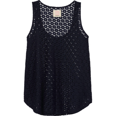 Surf The Quiksilver Juniors Circle Dot Lace Tank Top gives you a peek-a-boo look that is great for layering. Use this sexy little tank when you want to show off your bod without revealing too much skin. - $44.50