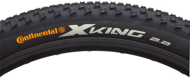 "MTB Be the King of the Road with the Continental x King Bike Tire. This mountain bike tire is a steel bead tire with low-rolling resistance that is ideal for dirt jumps and cross country use. This rugged tire gives you a good grip in all conditions, and will let you leave your racing opponents in the dust. Of course, you don't have to be racing to enjoy this 26-inch mountain bike tire's killer treads. Just have an adventurous spirit and a bike helmet, and you're good to go.Key Features of the Continental x King Bike Tire Black Steel Bead 26 x 2.2in: Cross-country tire with low rolling-resistance and good grip in all conditions Supersonic, Race Sport and ProTection versions are produced in Germany with the latest Black Chili compound Intended Use: Mountain Defined Color: Black Color Tread/Side: Black Tire Type: Clincher Tire Diameter: 26"" Labeled Width: 2.2 ISO Width: 55 mm ISO Diameter: 559 / 26"" mtn Tire Bead: Steel PSI: 50 - 65 PSI Weight: 640.0 g Wght/Dims: 1.595 lbs. 26 x 26 x 2 - $34.95"