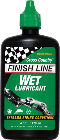MTB Key Features of the Finish Line Wet/Dry 4oz: Pack of 12 4oz bottles Wet/Dry Wet lube: Extremely durable, high viscosity lube goes on wet and stays wet Wet lube: Highly water resistent Wet lube: Recommended for long-distance rides, muddy off-road conditions, rainy commutes and salt-air costal climates Dry lube: Teflon based lube goes on milky wet and dries to a strong friction fighting film Dry lube: Recommended for on or off-road riding, expecially in dry dirt and dusty conditions Dry lube: Can also be used on derailleurs and pivots of brakes and shifters - $7.95