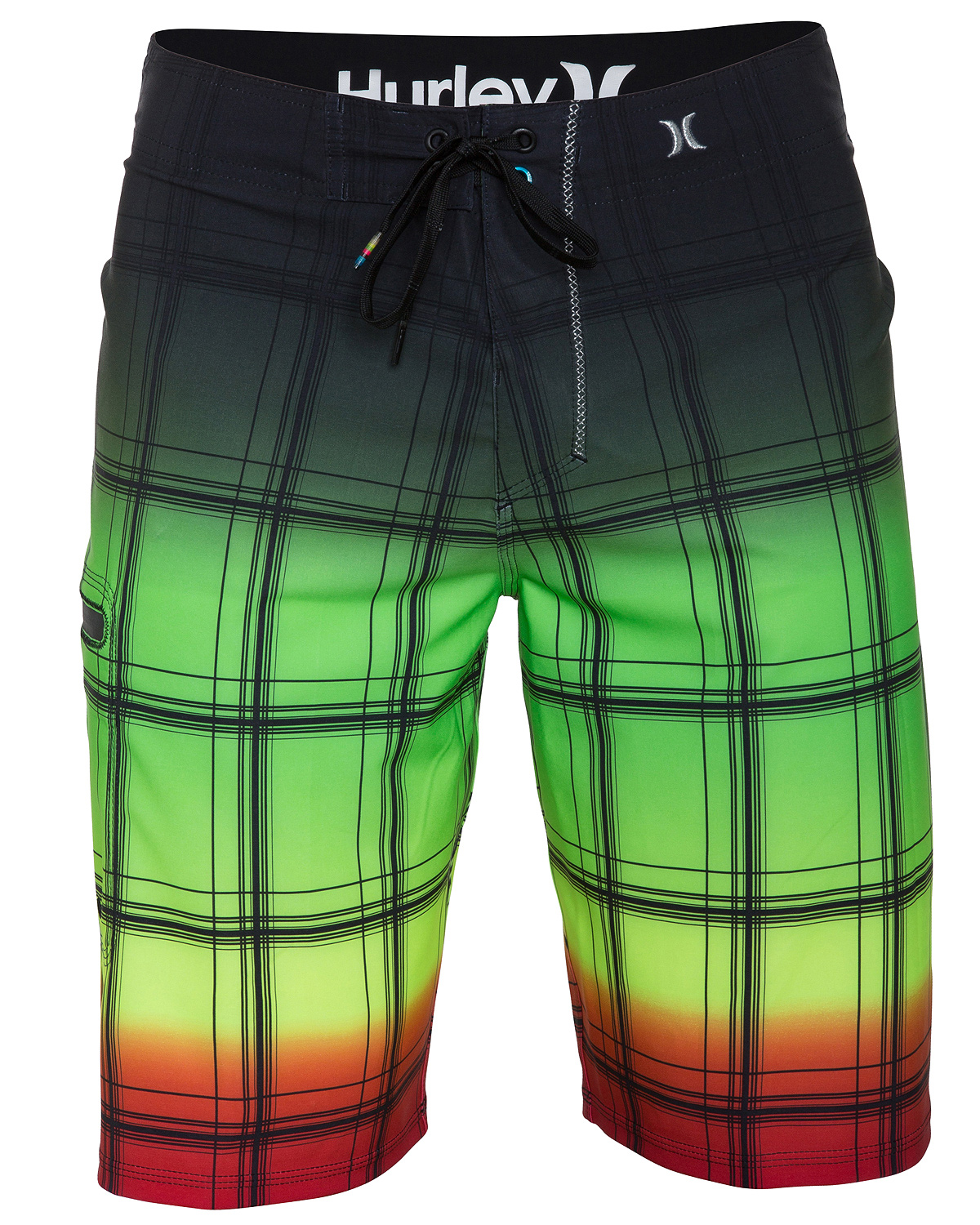 "Surf Key Features of the Hurley Phantom 60 Puerto Rico Sands Boardshorts: 21"" true performance fit Recycled phantom 60% stretch Patented ez fly closure Signature foil branding Metallic embroidery Performance water repellency No outseam Streamlined zipper pocket and engineered print - $65.00"