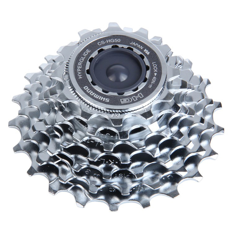 "MTB Key Features of the Shimano HG50 7 Speed Bike Cassette 13-28T: HG cassettes work with HG and IG90, 70, 51 and 31 chains HG cassettes are not designed to work with IG30 and IG50 chains Number of Speeds: 7 Range: 13-28 Cassette Cogs: 13,15,17,19,21,24,28 Cassette Spacing: Shimano/SRAM 7 Cassette Body Type: Shimano 7 Chain Compatibility: 3/32"" Intended Use: Mountain Weight: 416.0 g Color: Brown Wght/Dims: .72 lbs. 5.5 x 5.5 x 1.75 - $31.95"