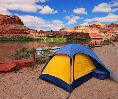 Camp and Hike Moab, UT - Think the neighbors will mind if we start a campfire tonight?