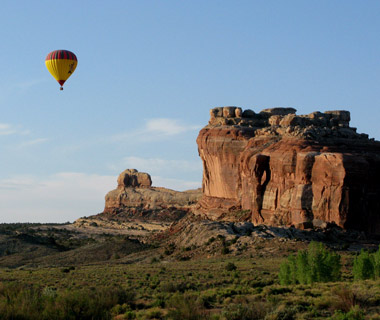 Extreme Best Family Spring-Break Trips - Biking and Ballooning in Moab, UT.  Article by April Orcutt