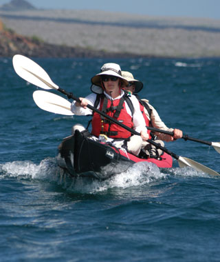 Kayak and Canoe World's Top Adventure Trips - The Galápagos Islands: Cruise the archipelago in a catamaran, exploring each new island on foot or by kayak. Article by Jeff Wise