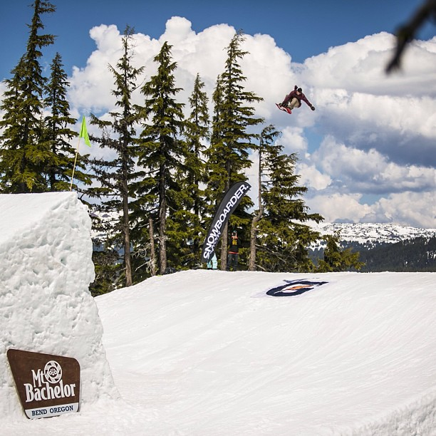 Snowboard . @grilo going long at #superpark17 @snowboardermag @mtbachelor p: Danny Kern