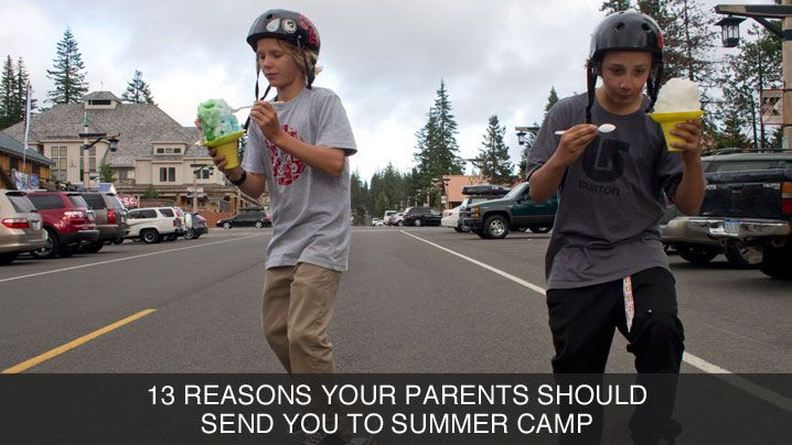 Snowboard It's just about time for summer snowboard camps to start. If your'e not going, check out 13 ways to convince your parents to send you next year. It will be worth it. http://bit.ly/13summercamp