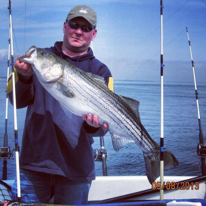 Fishing Check out this trophy striper WOS fan Lonnie sent in! Caught on the Chesapeake Bay.  Share your trophy photos with WOS! Email them to trophies@wideopenspaces.com.