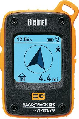 Hunting Bushnells user-friendly, reliable technology is paired with Bear Grylls survival expertise to bring you this feature-loaded Backtrack D-Tour Personal GPS. Easy-to-read distance and direction features are accompanied by a self-calibrating compass, time, temperature and latitude/longitude coordinates. Internal memory stores up to five locations, letting you easily find your way back. Grayscale LCD screen measures 1-5/8 x 1-5/8 for easy viewing. Displays time in 12- or 24-hour format, temperature in F or C, distance in miles or kilometers, and altitude. Use the included USB cable to transfer up to 48 hours of data to your computer for analysis and tracking. Includes rescue mirror. Runs on three AAA batteries (not included). One-year manufacturers limited warranty. Dimensions: 4-1/4H x 2-3/4W x 7/8D. Type: GPS. - $114.88