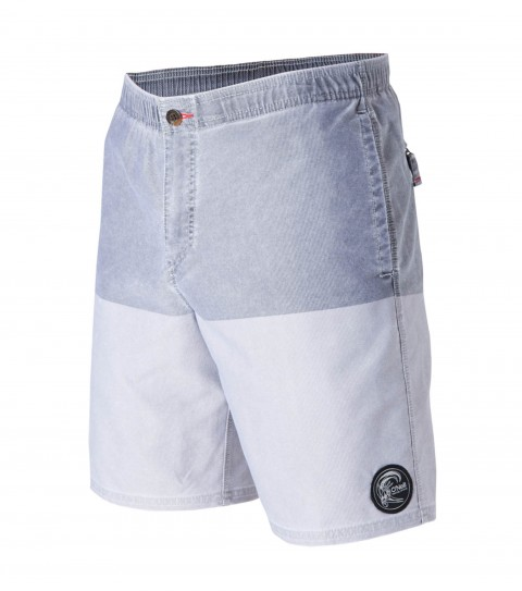 "Surf O'Neill Wolfsburg Hybrid Shorts.  Faux-Corduroy Stretch Polyester. 19"" outseam; slightly elasticated waistband; zipper fly; internal waistband drawcord; front and back pockets; woven label and embroidered logos. - $35.99"