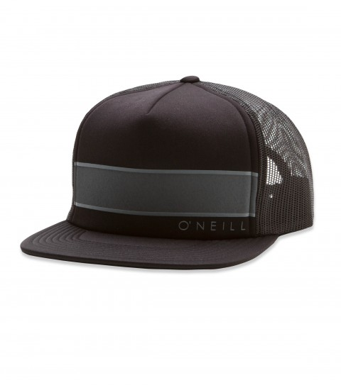 Surf O'Neill Elite  Trucker Hat.  Foam front trucker with screenprint stripe detail; snapback; hi-density screenprint; rear woven label. - $16.99