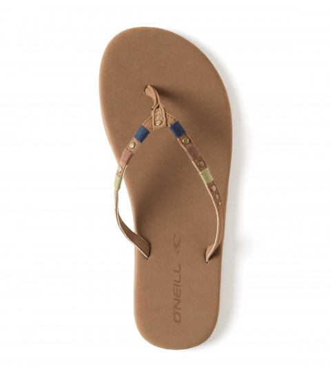 Surf O'Neill Mix'n Sandals.  Faux nubuck 3 point flip flop with padded and wrapped footbed; decorative wrapped upper with hardwear details; EVA midsole with arch support; stamped rubber sponge outsole. - $14.99
