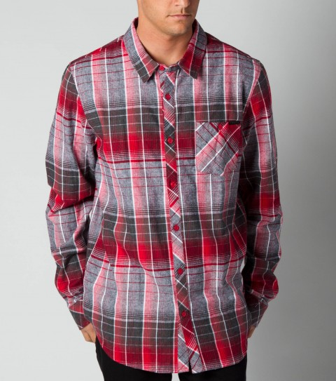Surf O'Neill Revive Flannel.  100% Cotton.  Plaid flannel with enzyme wash.  Standard fit; chest pocket; with logo embroideries and labels. - $40.99