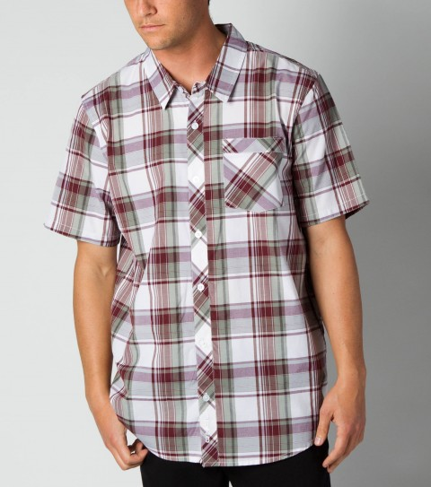 Surf O'Neill Ortega Shirt.  55% Cotton / 45% Polyester.  Plaid shirt with silicone wash. Standard fit; chest pocket; with logo embroideries and labels. - $34.99