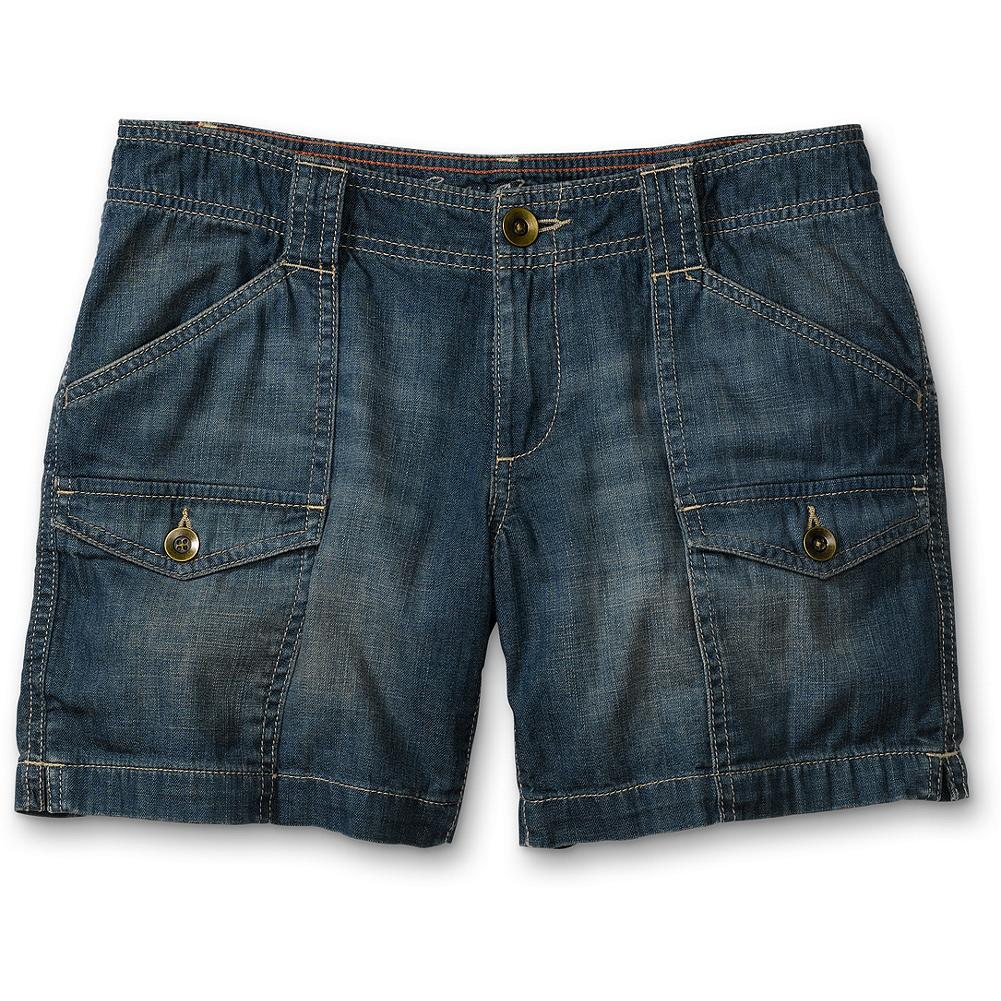 "Eddie Bauer Lightweight Relaxed Denim Shorts - Denim that can take the heat. In lightweight cotton, with a new silhouette and season-right washes. Classic five-pocket style. Weekend fit. Inseam: 6"". Imported. - $14.99"