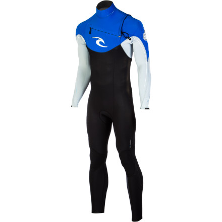 Surf Handle the cool surf in stride with the Rip Curl E-Bomb CZ 3/2 Men's Wetsuit. The E3 neoprene has a high warmth-to-weight ratio to keep you cozy without weighing you down, and it's incredibly flexible for total freedom of movement whether you're paddling out or making a tight cutback on a sweet right break. Triple-glued and double-blindstitched seams, a Bluesteel chest zipper, and a Hydro-Lock collar prevent flushing to keep you warm when you duck dive or have a good old-fashioned wipeout. - $209.96