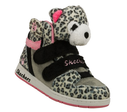 Give her absolutely adorable style and fun with the SKECHERS Sugarcanes - Lil Cuddlers shoe.  Soft plush fabric upper in a two strap casual high top sneaker with plush toy animal features. - $35.25
