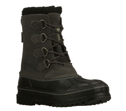 Outclass the chilly weather in the SKECHERS Revine - Hopkin boot.  Waterproof suede and synthetic upper in a lace up casual insulated cold weather mid calf height boot with stitching and overlay accents. Thinsulate (TM) insulation. - $89.00