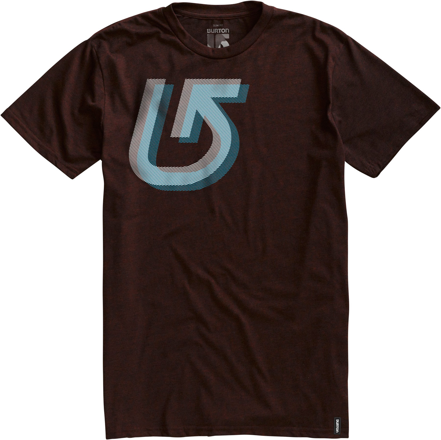 Snowboard Key Features of the Burton Staggered Slim Fit T-Shirt: 50% Cotton / 50% Polyester [Heather Mocha and Heather Swedish blue] 100% Cotton [all other Colorways] Screen Print on Front Slim Fit - $12.95