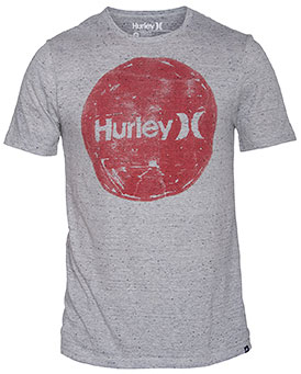 Surf Key Features of the Hurley Hand Krush T-Shirt: Premium fit -30 singles nubby yarns 90% cotton/10% polyester Woven icon loop label Screen-printed inside neck and soft-hand print - $15.95