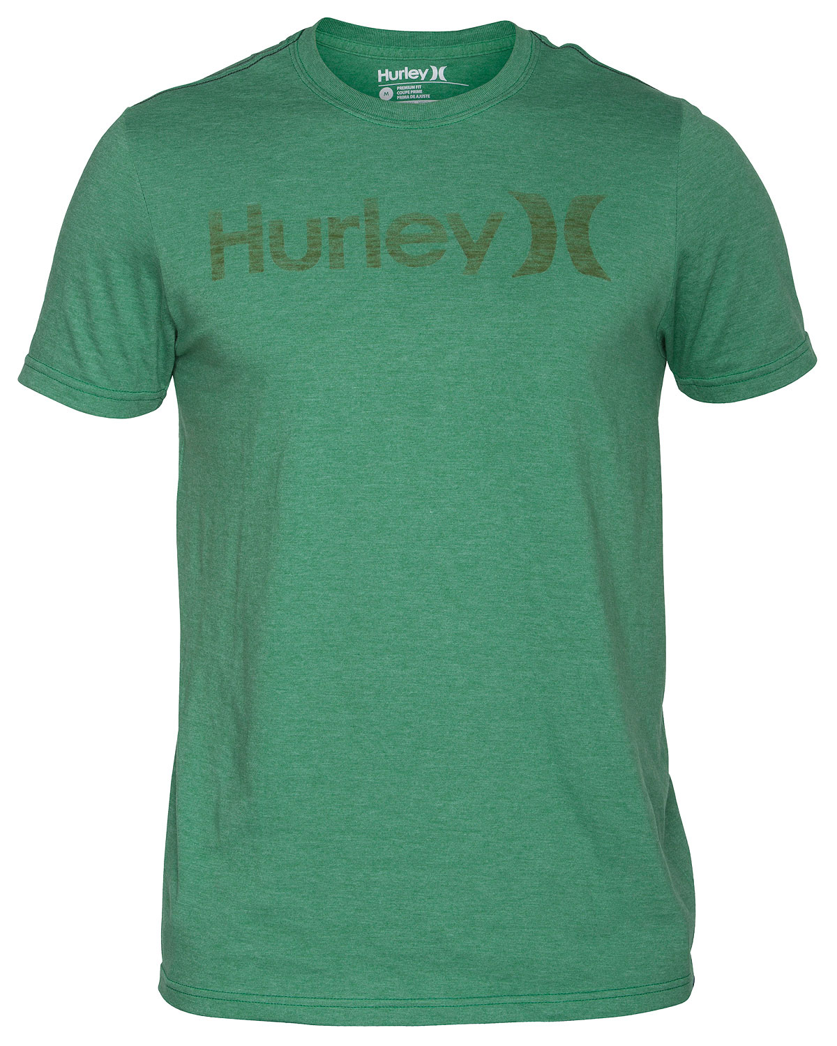 Surf Key Features of the Hurley One & Only Push Through Premium T-Shirt: Premium fit 30 singles 100% cotton solids and 50% cotton/50% polyester heathers Woven icon loop label Screen-printed inside neck and soft-hand push through print - $13.95
