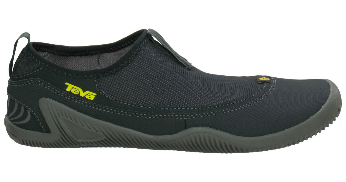 Surf Minimalist protection is the name of the game with the Nilch. Blending all of the benefits of minimalist construction with full foot coverage, the Nilch gives you the feeling of complete freedom without sacrificing the all around security of a shoe. Freedom and security at the same time; maybe the airlines should take notes.Key Features of the Teva Nilch Water Shoes: T.I.D.E. GRIP Our Spider Original rubber grips like crazy in wet environments Just 6mm of material between your foot and the ground lets the Nilch flex and bend naturally with you We figure that Mother Nature knows what she's doing, so we made the sole of the Nilch mimic the human foot as closely as possible, giving you an incredible sense of the earth T.I.D.E. HYDRO The Nilch's sole is designed to grip in both wet and dry environments, making it a great shoe for anything you do around the water A stretch mesh upper dries very quickly in the sun The Nilch's monosock construction keeps annoying rocks and sand out of the shoe T.I.D.E. COMFORT The minimal architecture of the Nilch makes you feel like you're wearing nothing at all, which everyone knows is a great feeling An EVA strobel insole gives you comfort without hurting the Nilch's flexibility Lightweight full foot coverage protects your feet without weighing them down SPIDER ORIGINAL: A lot of people ask why we named our original rubber compound after one of the creepiest creatures on the planet. In response, we ask them if they've ever seen a cute puppy climb up a completely vertical, soaking wet rock. No? We rest our case. - $38.95