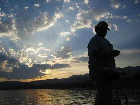 Fishing Kirk Winters finishes the day out on Lake Casitas