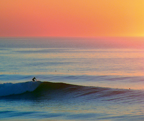 Surf Sun set surf section.