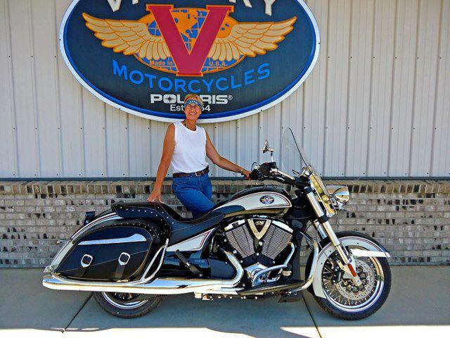 Auto and Cycle For Share Your Story Saturday we have Victory Motorcycle rider Sandra F.