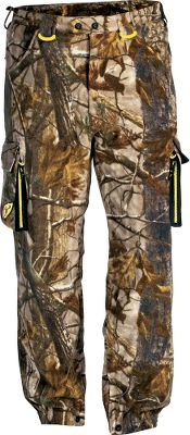 Hunting ScentBlocker Alpha Pro Fleece Pants are made of Pro Micro Fleece to combat the drizzling cold. A durable water-repellent treatment keeps moisture out. Soft and quiet fleece linings. Patent-pending ScentBlocker Trinity technology reduces odors. 100% polyester. High-back waist styling. BodyLock on waist and ankle cuffs. Articulated knees. Front pockets, a rear pocket and two bellows pockets. Imported.Sizes: M-2XL.Camo pattern: Realtree XTRA. Size Medium. Color Realtree Xtra. - $146.88