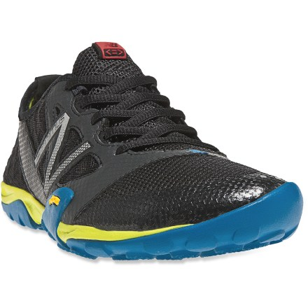 Fitness The New Balance WT20 trail-running shoes have a barefoot-inspired design to encourage a natural running stride while the Vibram(R) outsoles give you traction when your route gets slippery or rough. 4mm heel-to-toe drop-as little as one-third of traditional running shoes-supports natural, barefoot running form. Durable, lightweight synthetic leather uppers feature ample mesh paneling so your feet can breathe and stay cool. Synthetic linings wick perspiration away from your feet and dry quickly to discourage the development of blisters or odors. EVA midsoles offer flexibility and featherweight cushioning. Minimal Vibram rubber outsoles provide excellent grip on the trails. New Balance WT20 women's trail-running shoes are designed to be worn with or without socks. Closeout. - $39.73