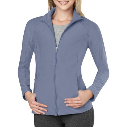 Designed with princess seams for a slim, flattering shape, the Lucy Vital jacket keeps you looking and feeling great long after your post-workout rush has worn off. Lightweight, stretchy polyester fabric feels soft against skin. Full-length zipper; hand pockets. Closeout. - $52.73